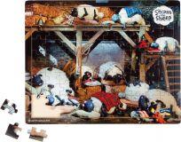 Small Foot Dřevěné puzzle ovečka Shaun před spaním 100 dílků
