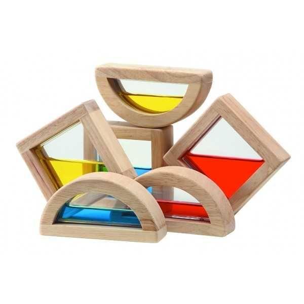 Dřevěné hračky PlanToys Kostky s vodou