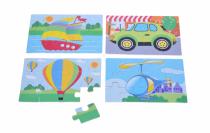 Puzzle dřevěné dopravní prostředky 4v1