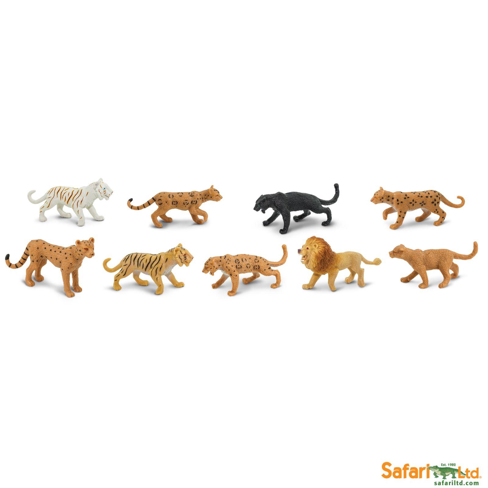 Dřevěné hračky Safari Ltd - Tuba - Kočkovité šelmy