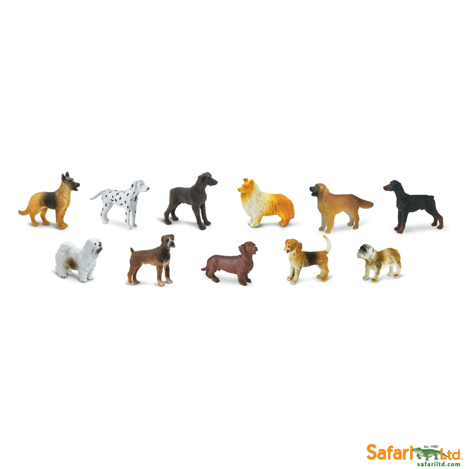 Dřevěné hračky Safari Ltd - Tuba - Psi