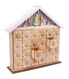 Vánoční dekorace - Lampa Adventní Kalendář Sněhulák