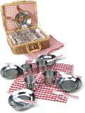 Vilac kuchyňské kovové nádobí v košíku