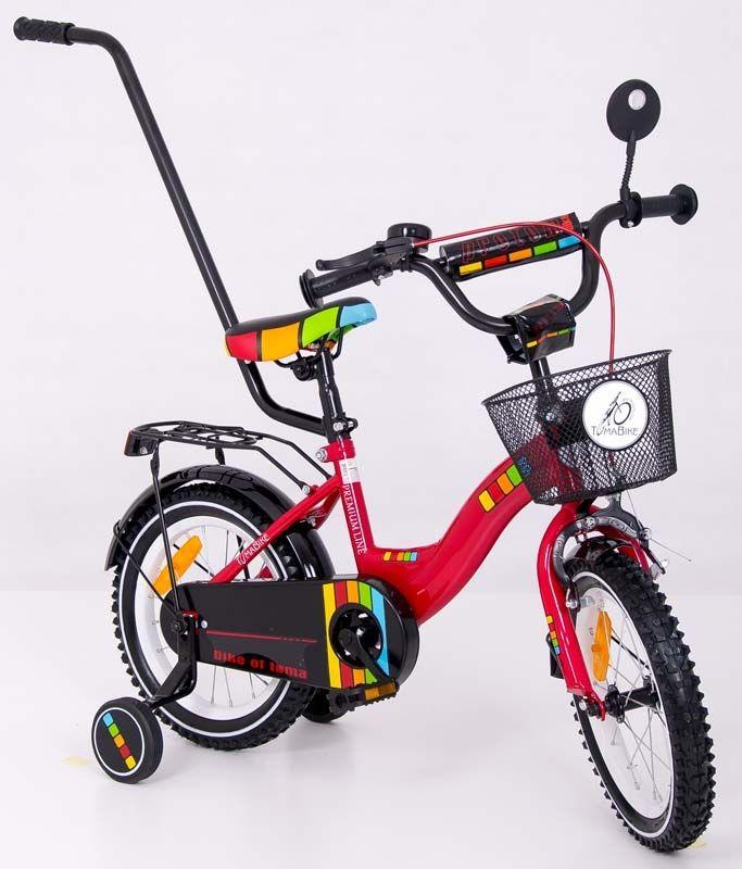 Dřevěné hračky Dětské kolo 1401 Tomabike Exclusive červené Elgrom