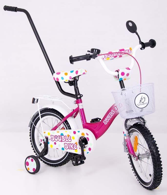 Dřevěné hračky Dětské kolo 1401 Tomabike Exclusive růžovo-bílý Elgrom