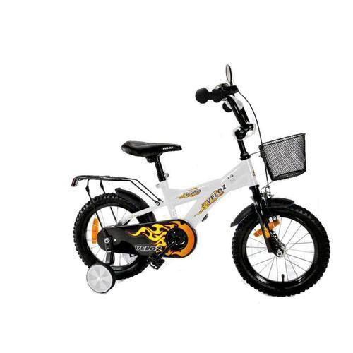 Dřevěné hračky Dětské kolo 1601 BMX Veloz - bílé Elgrom