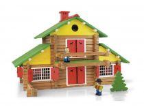 Dřevěná stavebnice Jeujura - 240 dílů - Poškozená krabička