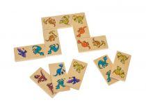 Dřevěné domino v krabičce dinosauři