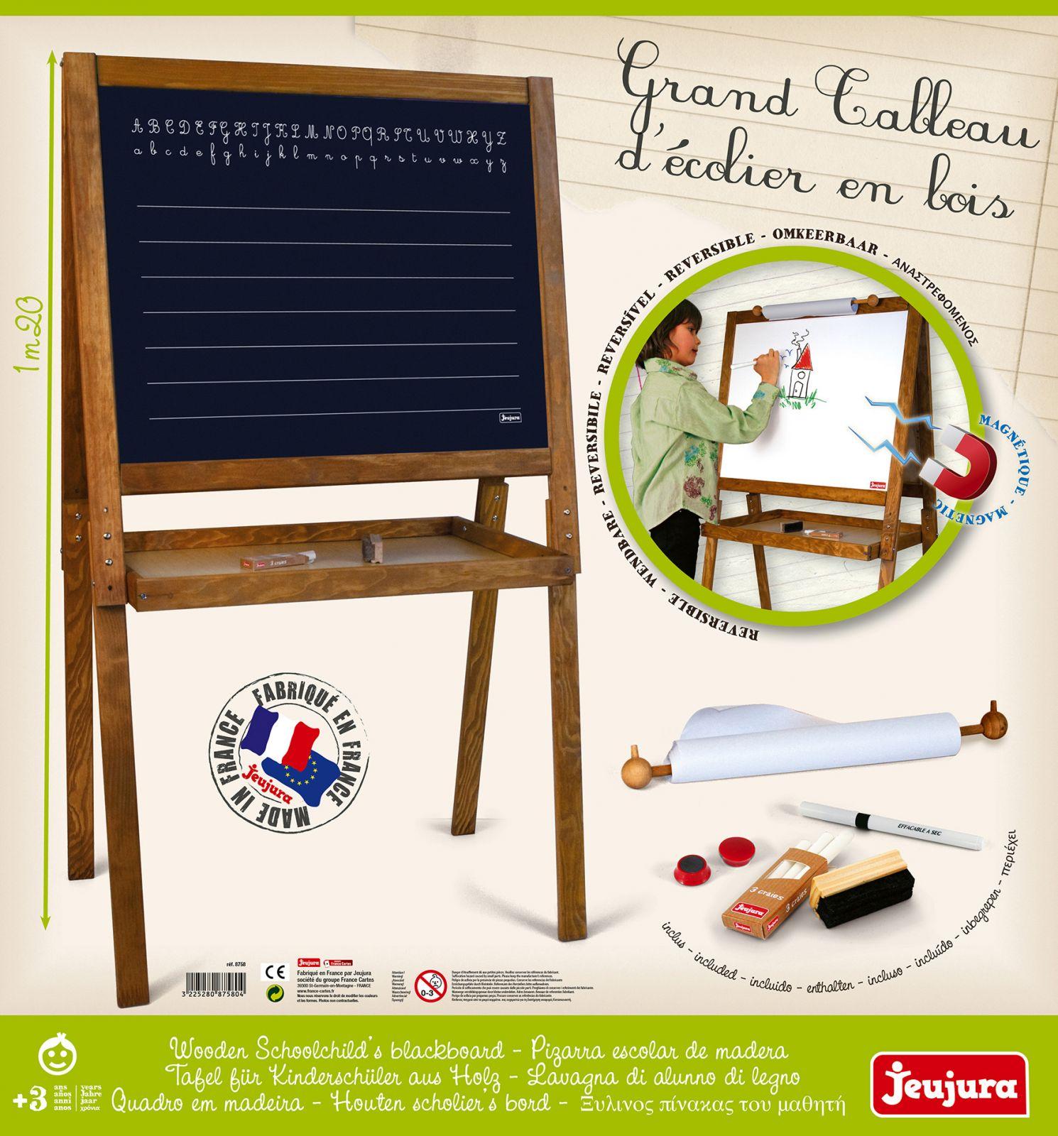 Dřevěné hračky Jeujura Velká multiaktivní školní magnetická tabule 13dfb67e18