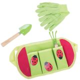 Dřevěné hračky Bigjigs Toys Zahradní nářadí Beruška