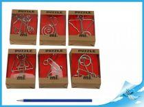 Hlavolam kovový 6 různých druhů 1 ks