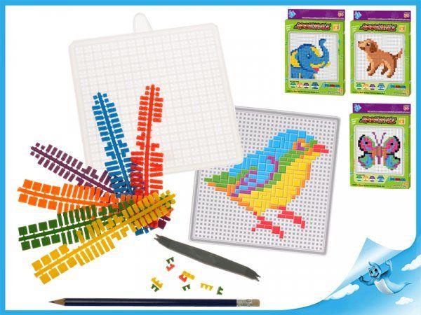 Dřevěné hračky Mozaikové puzzle slon Mikro Trading