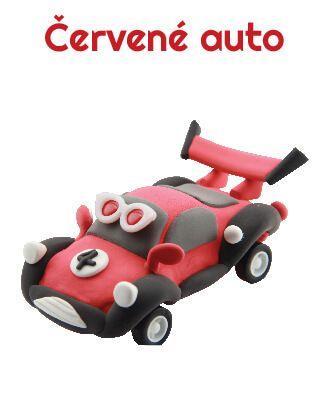 Dřevěné hračky Paulinda modelovací hmota Racing Time auto - červené Mikro Trading