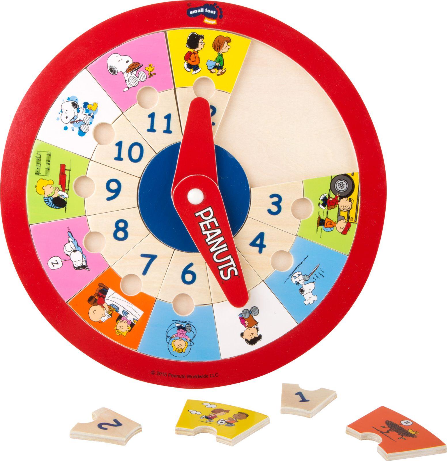Dřevěné hračky Puzzle hodiny Peanuts Small foot by Legler