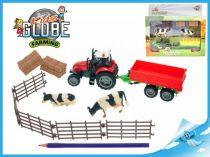 Sada traktor s vlečkou a doplňky