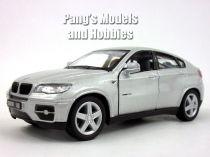 Welly - BMW X6 model 1:34 stříbrné