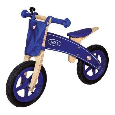 Dřevěné hračky Bino Dřevěné odrážedlo modré