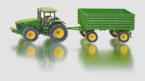 Siku Kovový model traktor John Deere s vlekem 1:50