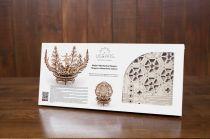 Dřevěné hračky Ugears Dřevěná stavebnice 3D mechanické Puzzle Květina