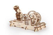 Dřevěné hračky Ugears Dřevěná stavebnice 3D mechanické Puzzle Motor