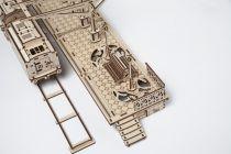 Dřevěné hračky Ugears 3D dřevěné mechanické puzzle Nástupiště