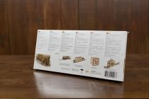 Dřevěné hračky Ugears 3D dřevěné mechanické puzzle Železniční přejezd s kolejemi