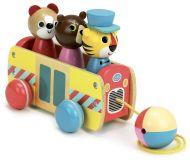 Vilac Dřevěný tahací autobus se zvířátky