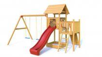 Dřevěné dětské hřiště - MATÝSEK se skluzavkou a houpačkou