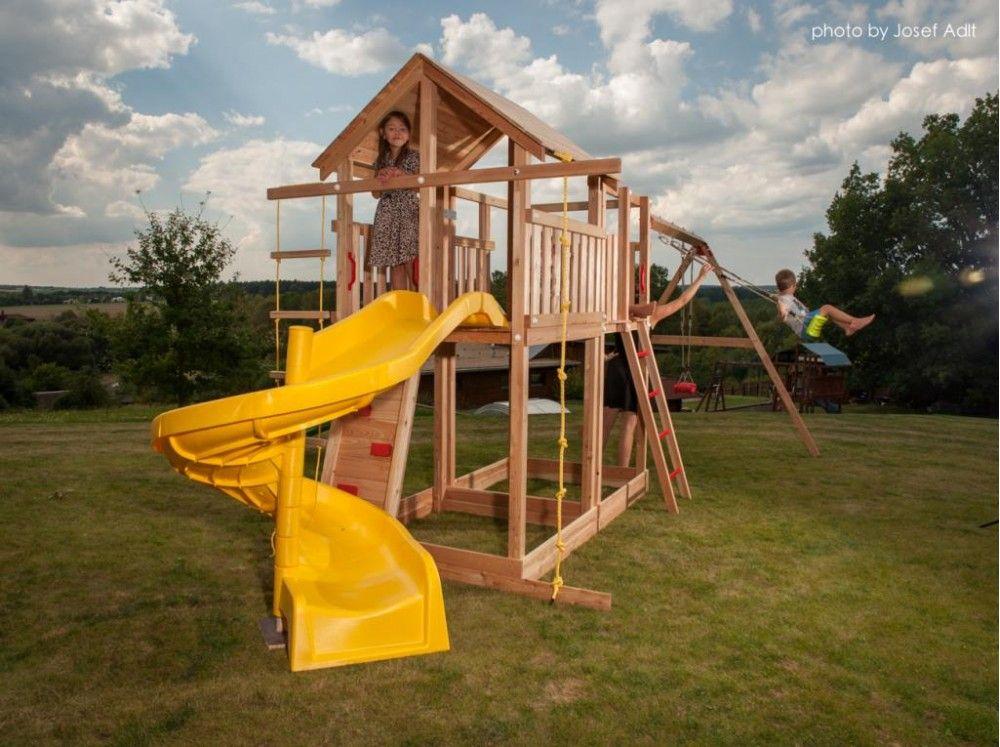 Dřevěné hračky Dřevěné dětské hřiště - TOMÁŠ s tobogánem PA