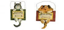 Sada  Dekorativní vývěska Welcome 2 ks