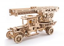 Dřevěné hračky Ugears 3D dřevěné mechanické puzzle Nádstavba cisterna a hasičský vůz k Truck UGM 11