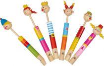 Small Foot Sada dřevěná flétna královská rodina 6  ks