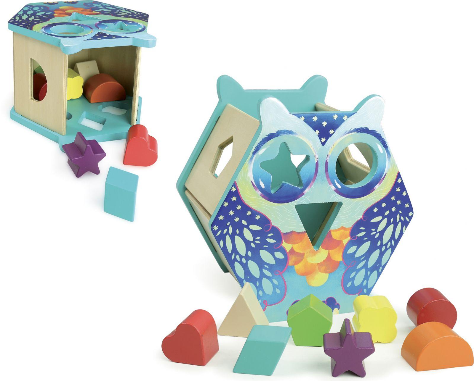 Dřevěné hračky Vilac Vkládací motorická sova