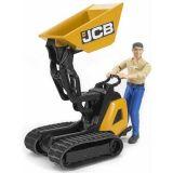 Dřevěné hračky Bruder Pásový přepravník JCB s figurkou