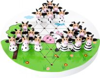 Small Foot Dřevěná hra Halma kravičky