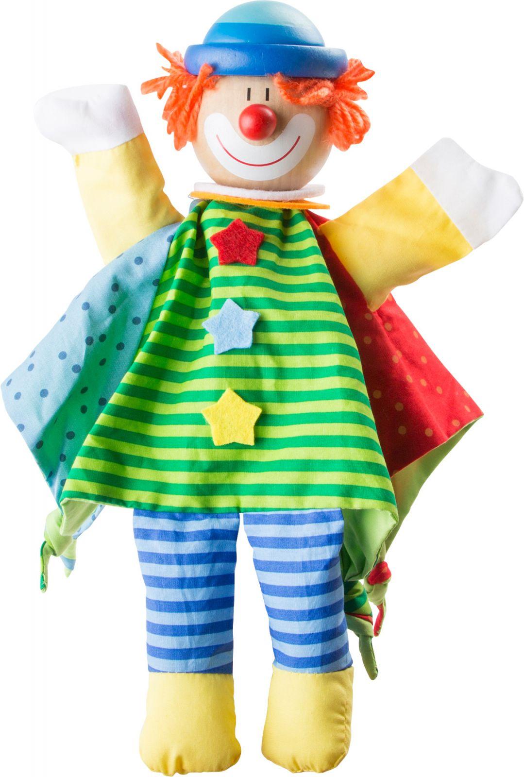Dřevěné hračky Small Foot Dřevěná loutka maňásek klaun Small foot by Legler