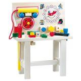 Dřevěné hračky Bino Hračky pro kluky pracovní ponk s telefonem