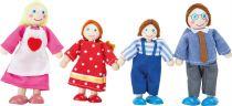 Small Foot Dřevěné ohybatelné panenky rodina