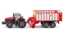 Siku Kovový model traktor Massey Ferguson s Jumbo přívěsem