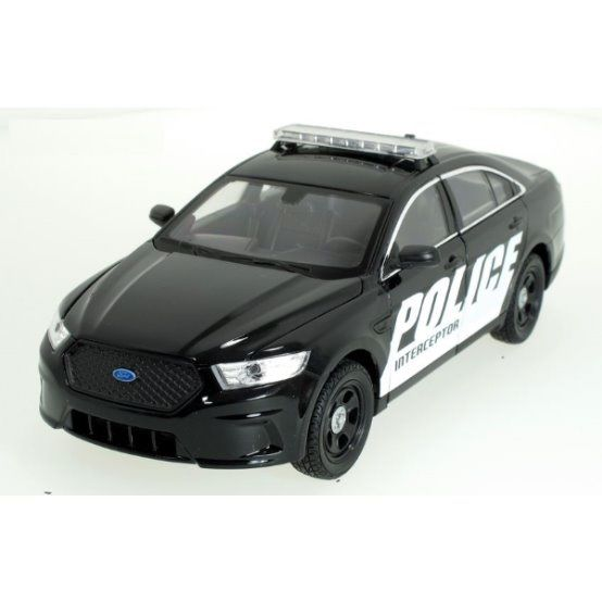Dřevěné hračky Welly - Ford Interceptor Police model 1:24 Black