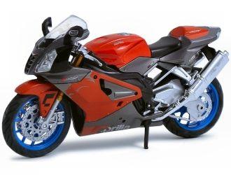 Dřevěné hračky Welly - Motocykl Aprilia RSV1000R model 1:18 červený
