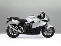 Dřevěné hračky Welly - Motocykl BMW K1300S model 1:10 bílý