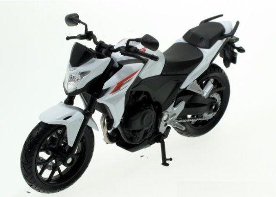 Dřevěné hračky Welly - Motocykl Honda CB500F model 1:18 bílá