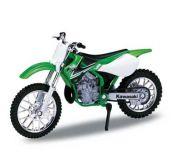 Welly - Motocykl Kawasaki KX 250 model 1:18 zelená