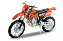 Welly - Motocykl KTM 525 EXC  model 1:18 oranžový
