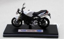 Welly - Motocykl Triumph Street Triple model 1:18 Bílý