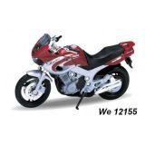 Welly - Motocykl Yamaha TDM850 model 1:18 červená