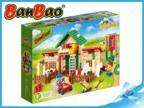 BanBao stavebnice - Eco Farm - farma se silem 328ks + 3 figurky ToBees