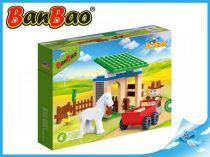 BanBao stavebnice - Eco Farm - stáj s koníkem 59ks + 1 figurka ToBees