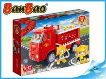 BanBao stavebnice - Fire - hasičské vozidlo zpětný chod 112ks + 1 figurka ToBees
